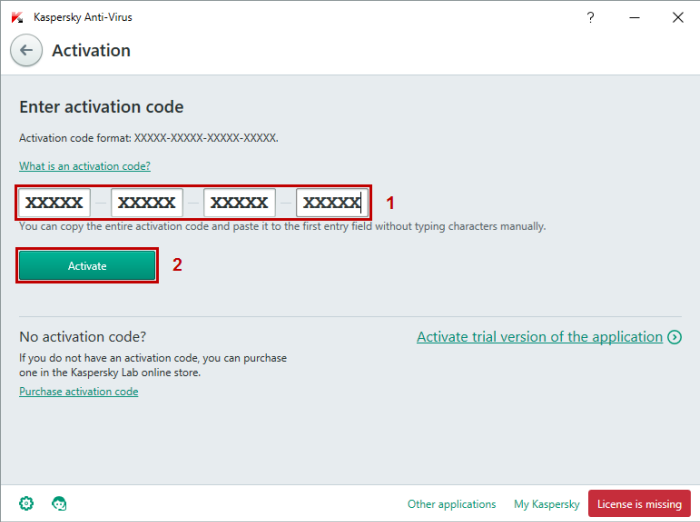 activation code kaspersky 2018