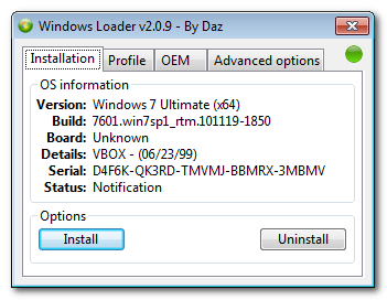 Activator windows 7 all w7 types